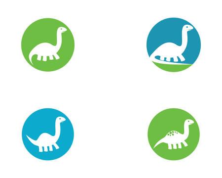 Brontosaurus logo template vector icon illustration design 向量圖像
