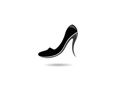 High heel vector icon illustration design