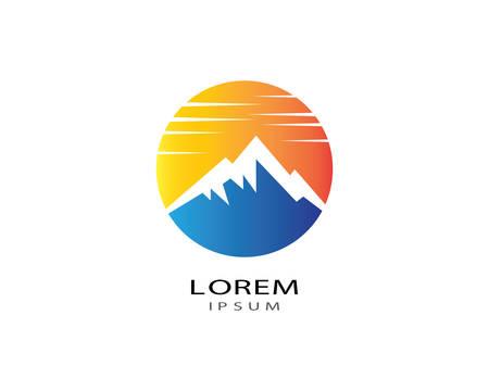 Mountain logo template vector icon illustration design Logo
