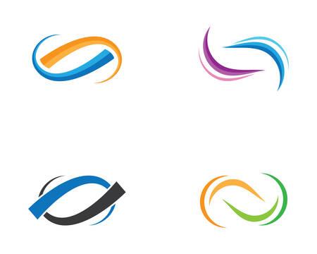 Infinity logo template vector icon illustration design Illusztráció