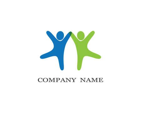Adoption et soins communautaires logo modèle vecteur icône illustration design