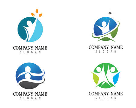 Healthy life logo template vector icon illustration design 向量圖像
