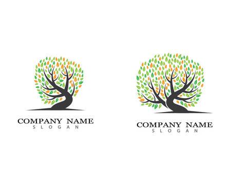 Tree logo template vector icon illustration design 向量圖像