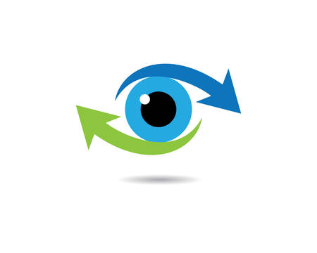 Eye logo template vector icon illustration design
