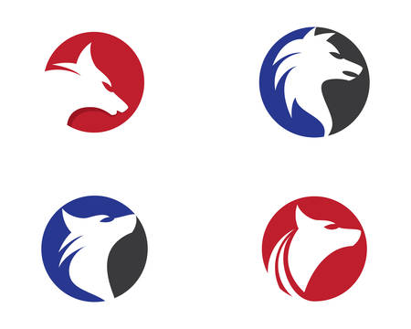 Wolf vector icon illustration design