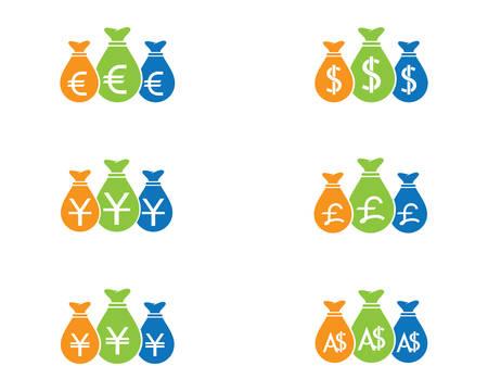 Dollar money vector icon illustration design