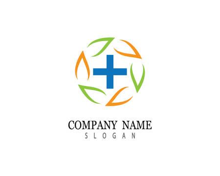 Medical logo template vector icon illustration design Logo