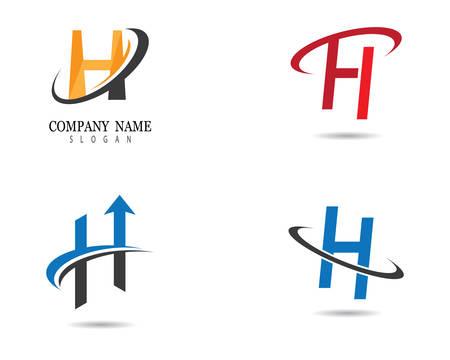 H letter logo vector icon illustration design
