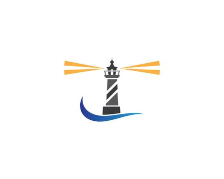 Lighthouse symbol vector icon illustration