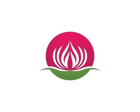 Lotus symbol vector icon illustration