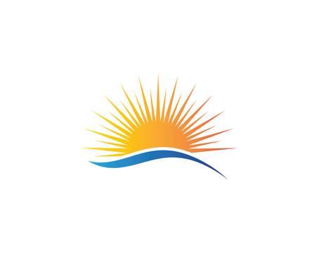 Sun logo template vector icon illustration design