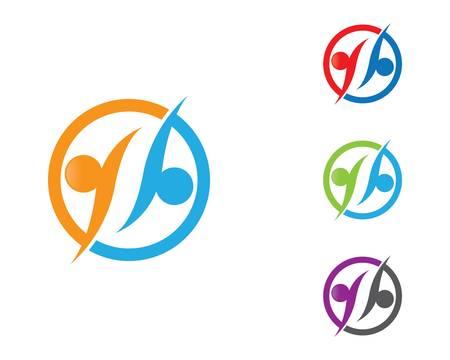 Community logo vector icon illustration