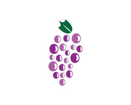 Grape logo template vector icon illustration design 向量圖像