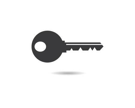 Key logo template vector icon illustration design Logos