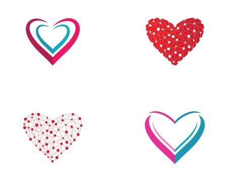 Love logo template vector icon illustration design Logo