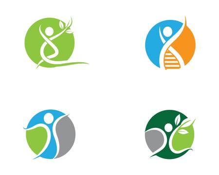 Wellness logo template vector icon illustration 向量圖像