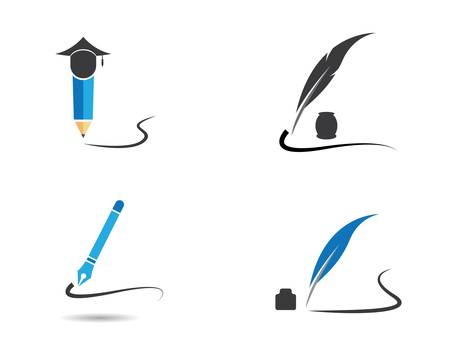 Feather symbol vector icon illustration design