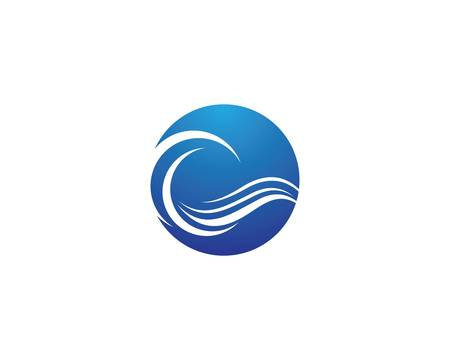 Water wave vector icon illustration