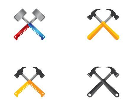 Hammer symbol vector icon illustration