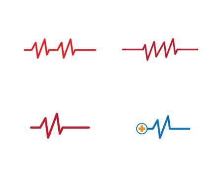 Pulse logo template vector icon illustration design