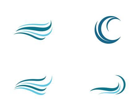 Wave symbol vector icon illustration design
