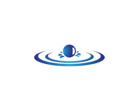 Water drop vector icon illustration