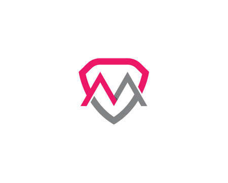 M letter logo vector icon illustration design