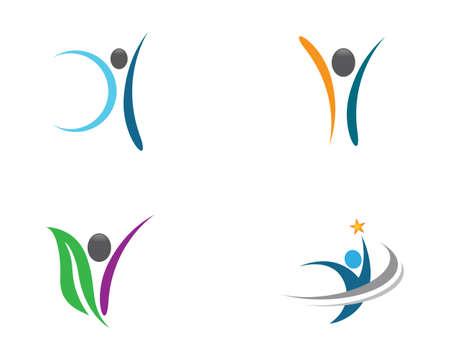 Wellnes symbol vector icon illustration Foto de archivo