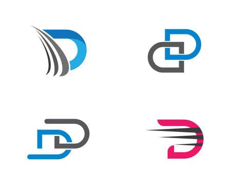 D letter logo vector icon illustration design