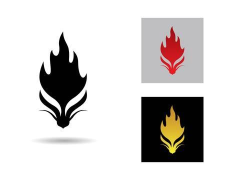 Dragon head symbol illustration design Illusztráció