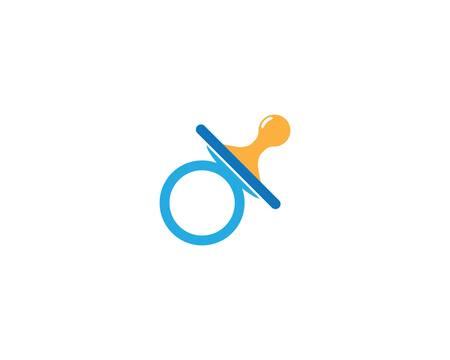 Baby pacifier symbol vector icon illustration