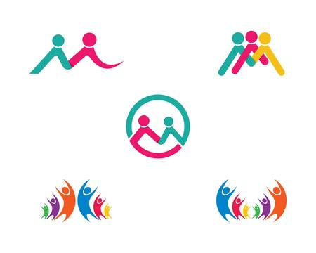 Community vector icon illustration design Vetores
