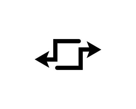 Arrow symbol vector icon illustration Иллюстрация