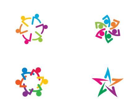 Conception d'illustration d'icône de vecteur de communauté