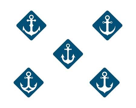Anchor vector icon illustration design