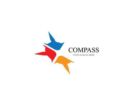 Compass symbol vector icon illustration Illustration