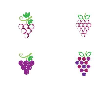 Grape vector icon illustration design 向量圖像