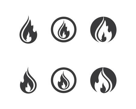 Fire symbol vector icon illustration Vektorové ilustrace