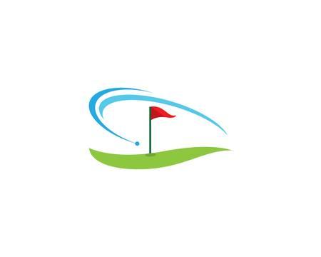 Golf symbol vector icon illustration