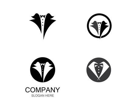 Clothing logo template vector icon illustration design
