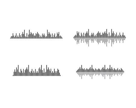 Sound wave logo template vector icon illustration
