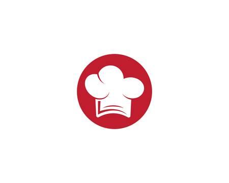 Chef hat logo template vector icon illustration design