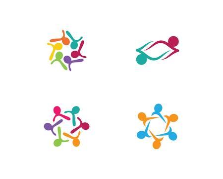 Adoption and community care template icon illustration design Vectores