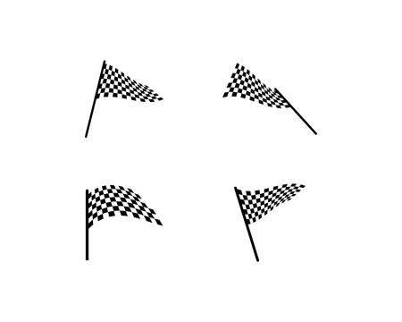 Flag race vector icon illustration