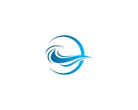 Water wave logo vector icon illustration design 版權商用圖片 - 147807387