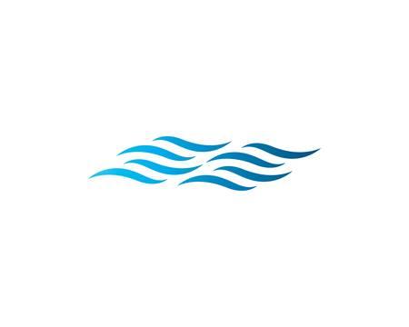 Water wave logo vector icon illustration design 版權商用圖片 - 147807512