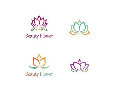 Beauty flowers template icon