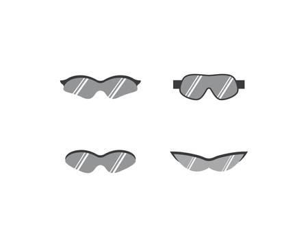 Sport glasses vector icon illustration design
