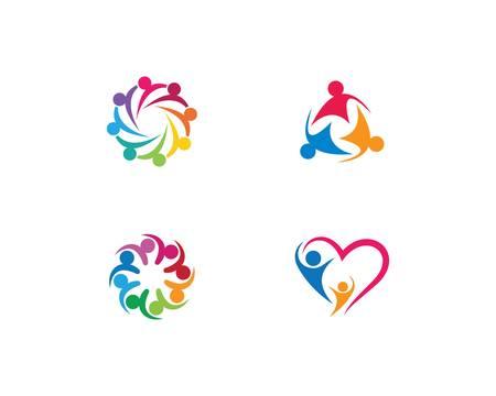 Adoption and community care template icon illustration design  イラスト・ベクター素材