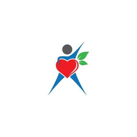 Healthy heart icon illustration design Vettoriali